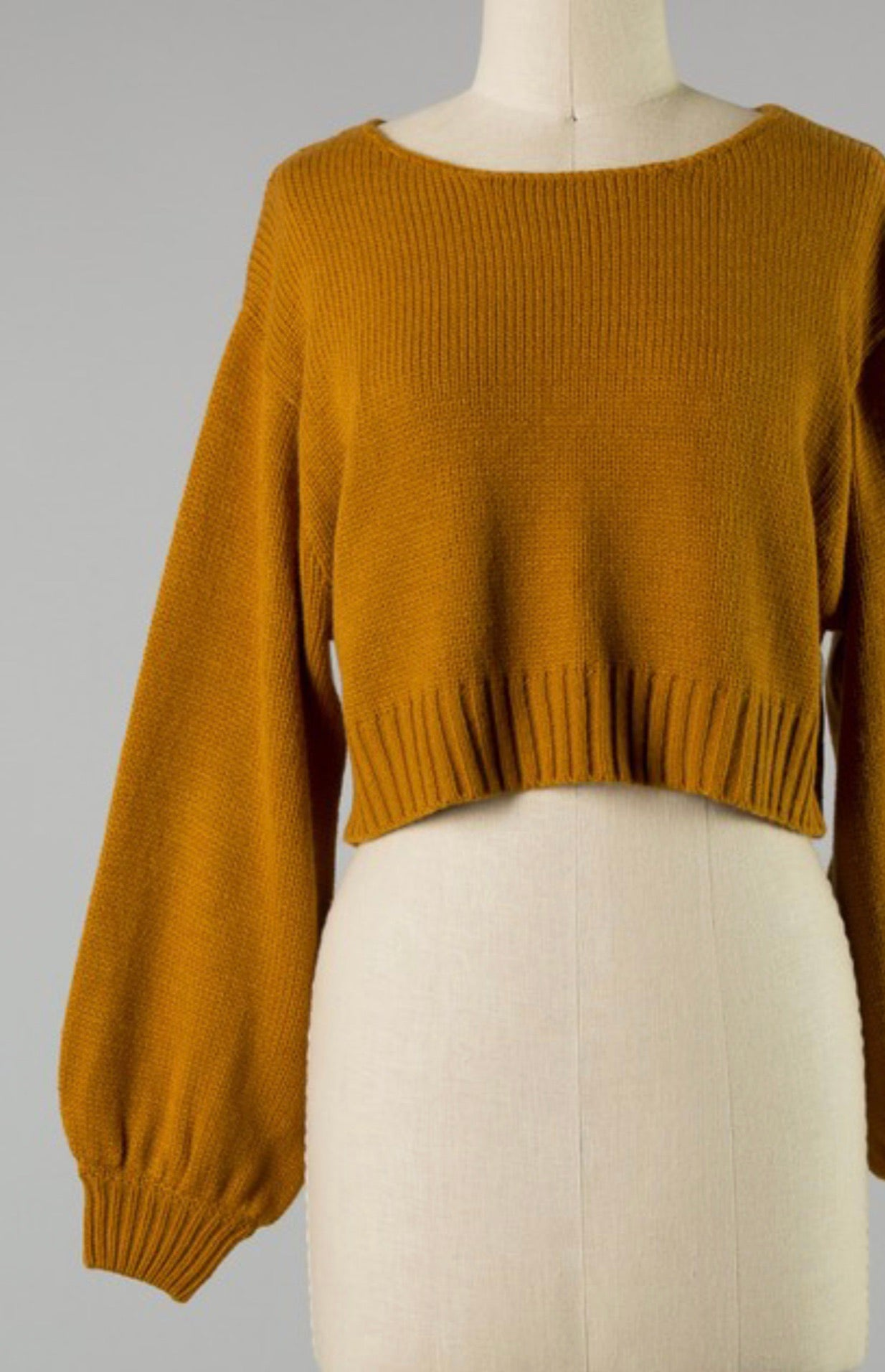 Camel Cropped Sweater