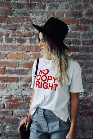 NO COPY RIGHT TEE