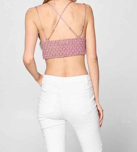 Light Mauve Lace Bralette