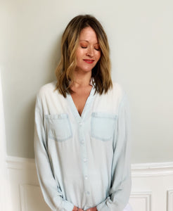 Fringe detailed Chambray Top