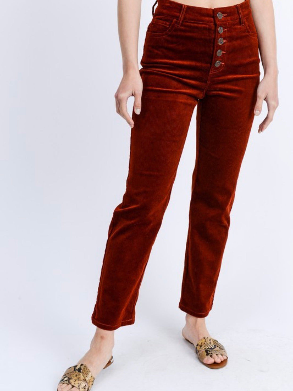 High Rise Corduroy Pants