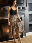 Saturated Love Hi-Lo Leopard Midi Skirt