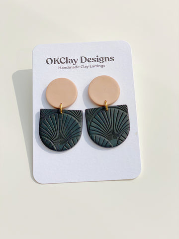 Nude + Black Mayfair Textured Earrings
