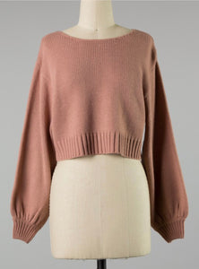 Mauve cropped sweater