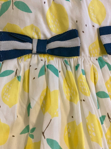 Lemon Bow Dress with Bloomers