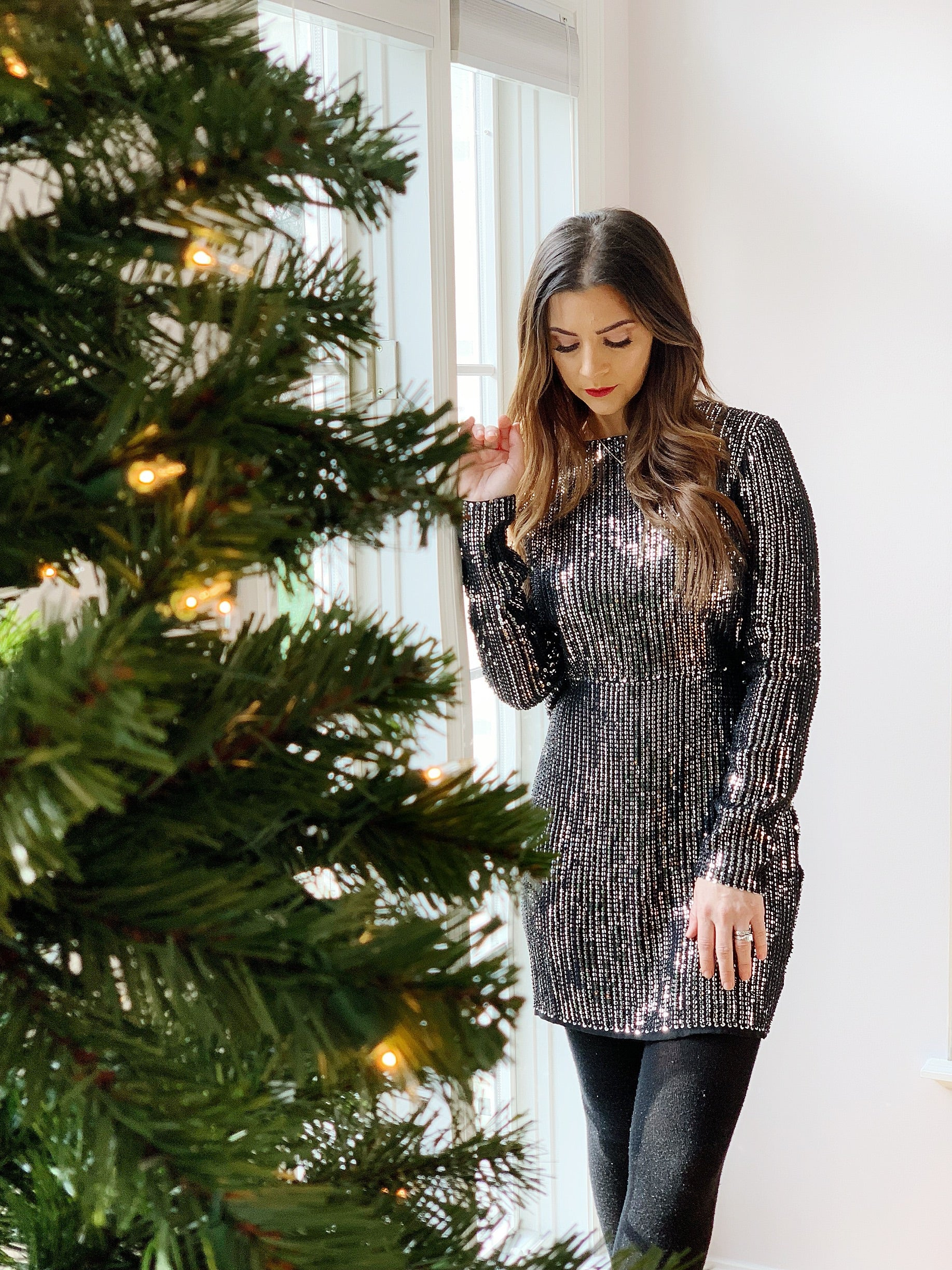 ALIXE SEQUIN MINI DRESS