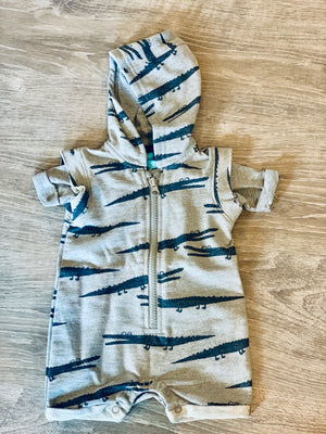Alligator French Terry Romper