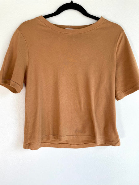 Soft Crew Neck Tee - Camel
