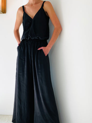 Soiree Wide Leg Black Pants
