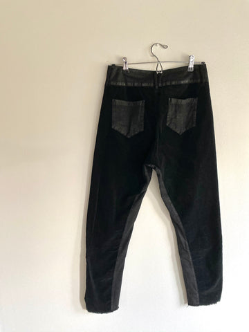 Coated Patchwork Pants.