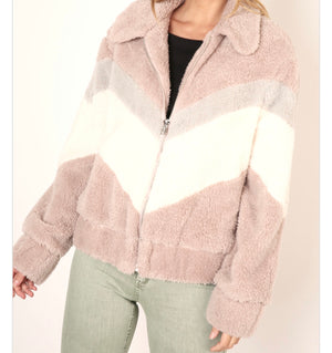 Multi Colored Faux Fur Jacket