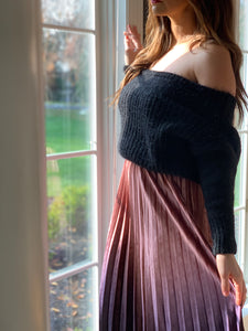 OFF THE SHOULDER CHUNKY SWEATER
