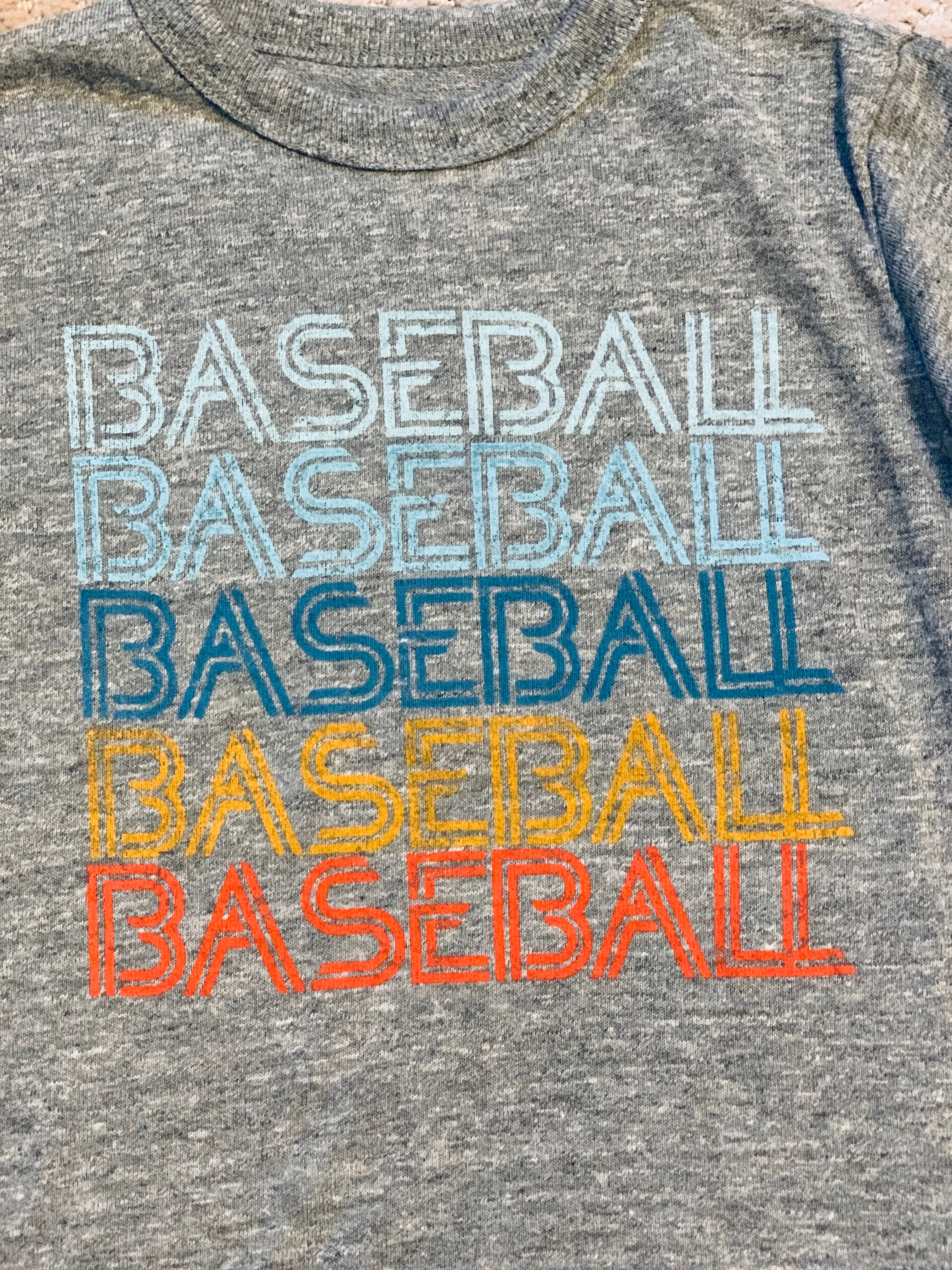 """Baseball"" Crew Neck Graphic Tee"