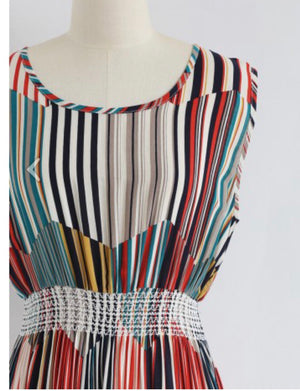 Midi Bold Stripe Dress