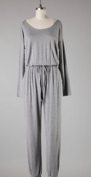 Grey Knit Jumpsuit