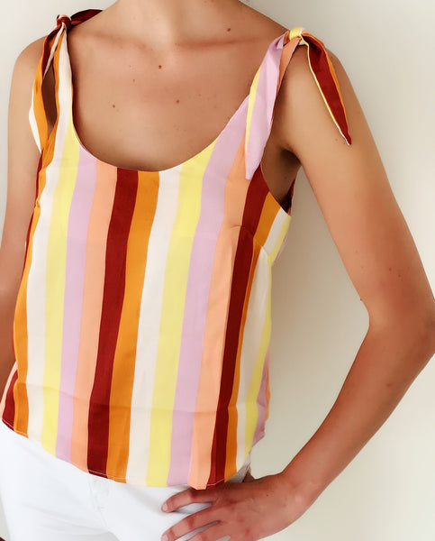 Striped Tie Tank