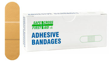 Plastic Bandages, 1.9 x 7.6 cm, 12/Unit Box