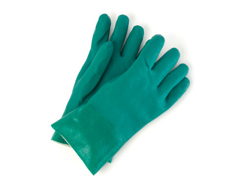 12″ Green Double-Dipped PVC Gloves
