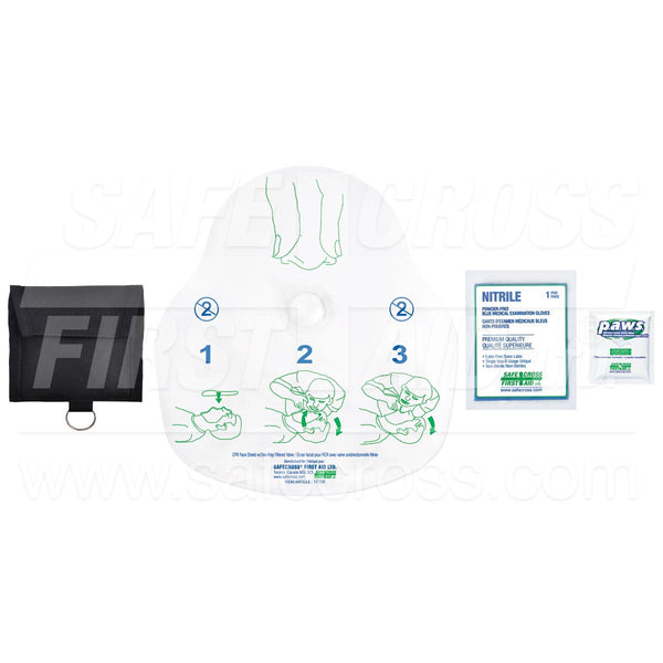 Safecross® Cpr Face Shield W/One-Way Filtered Valve