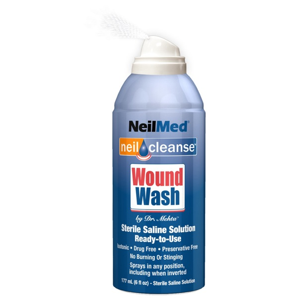 Neilcleanse, Wound Wash Saline Spray, 177 mL, Sterile