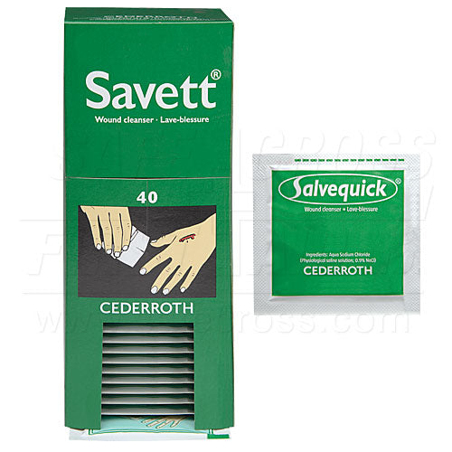 "Savett"" Wound Cleanser Refill, 40/Box"