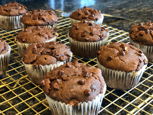 Gluten-Free and Dairy-Free Double Down Chocolate Muffins by Adam and Addison Gilchrest