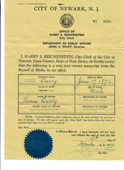 George Burry Sr. Birth Certificate