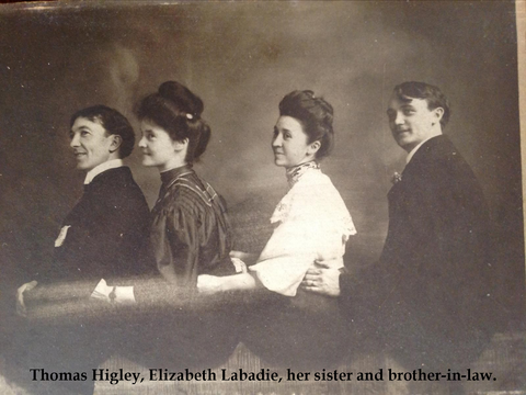Thomas Higley, Elizabeth Labadie, sister and brother-in-law.