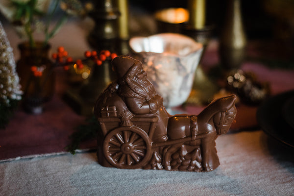 Chocolate Santa with His Donkey