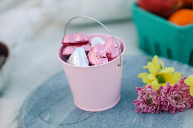 Foiled Chocolate Heart Bucket