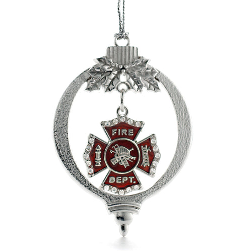 Firefighter Badge Charm Christmas / Holiday Ornament