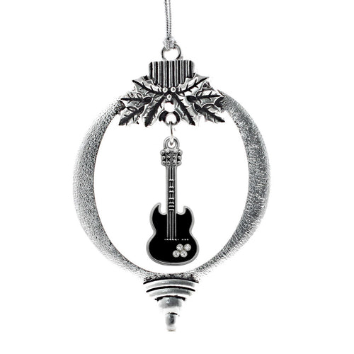 Half Carat Guitar Charm Christmas / Holiday Ornament