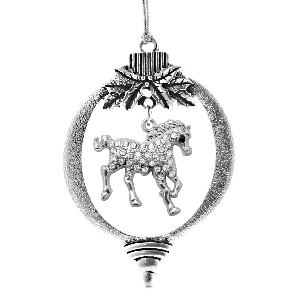 2.0 Carat Galloping Horse Charm Christmas / Holiday Ornament