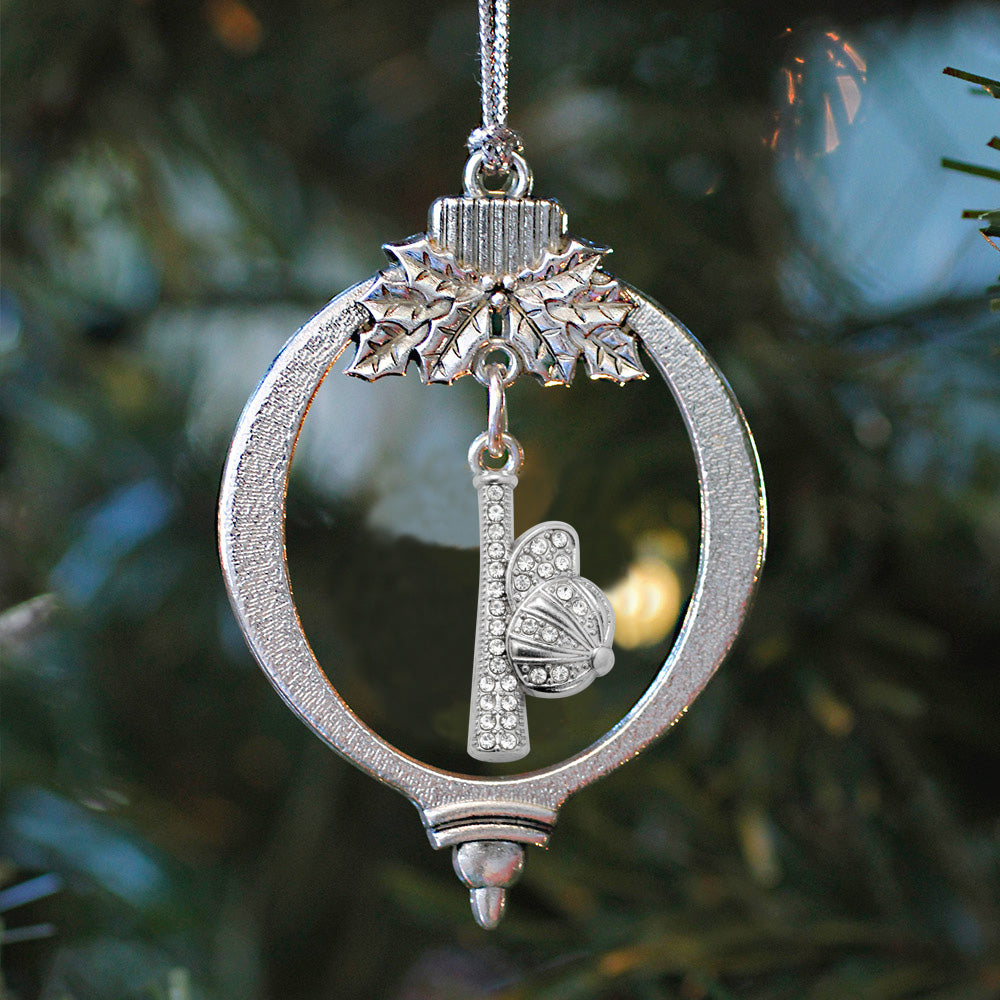 1.0 Carat Hat and Bat Charm Christmas / Holiday Ornament