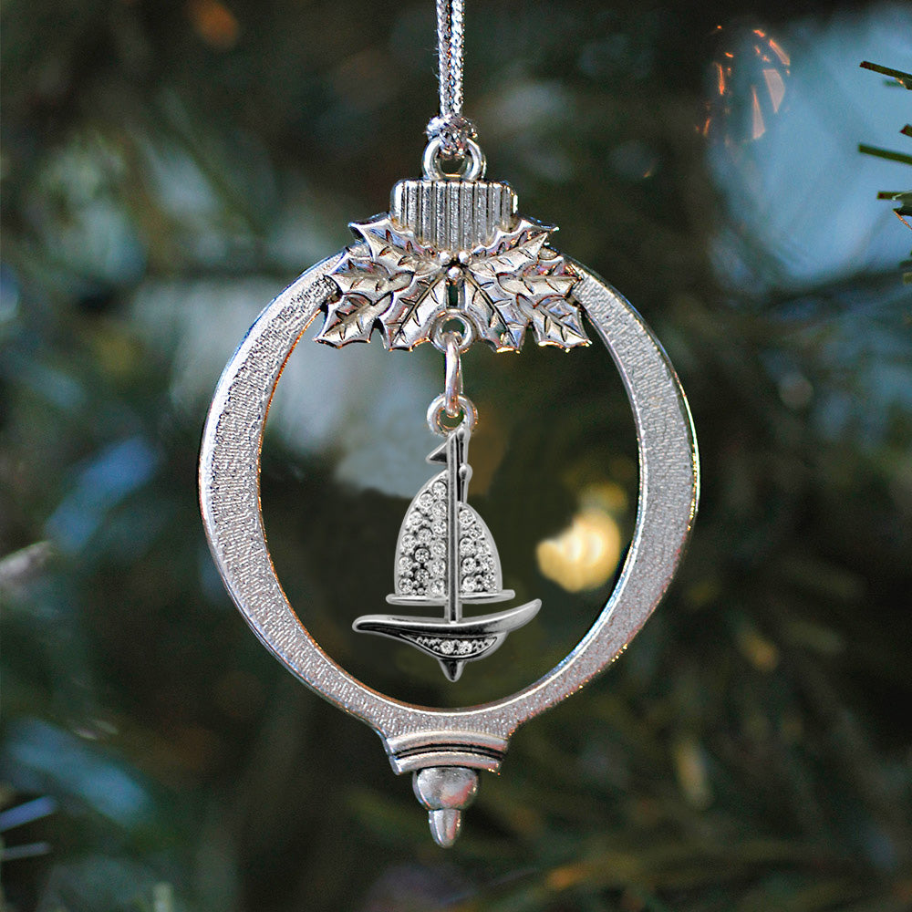 1.0 Carat Sailboat Charm Christmas / Holiday Ornament