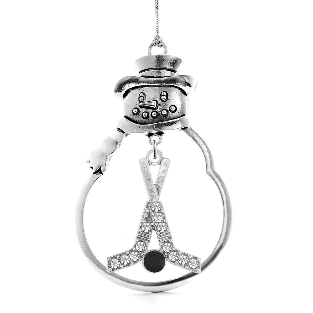 1.2 Carat Pave Hockey Charm Christmas / Holiday Ornament