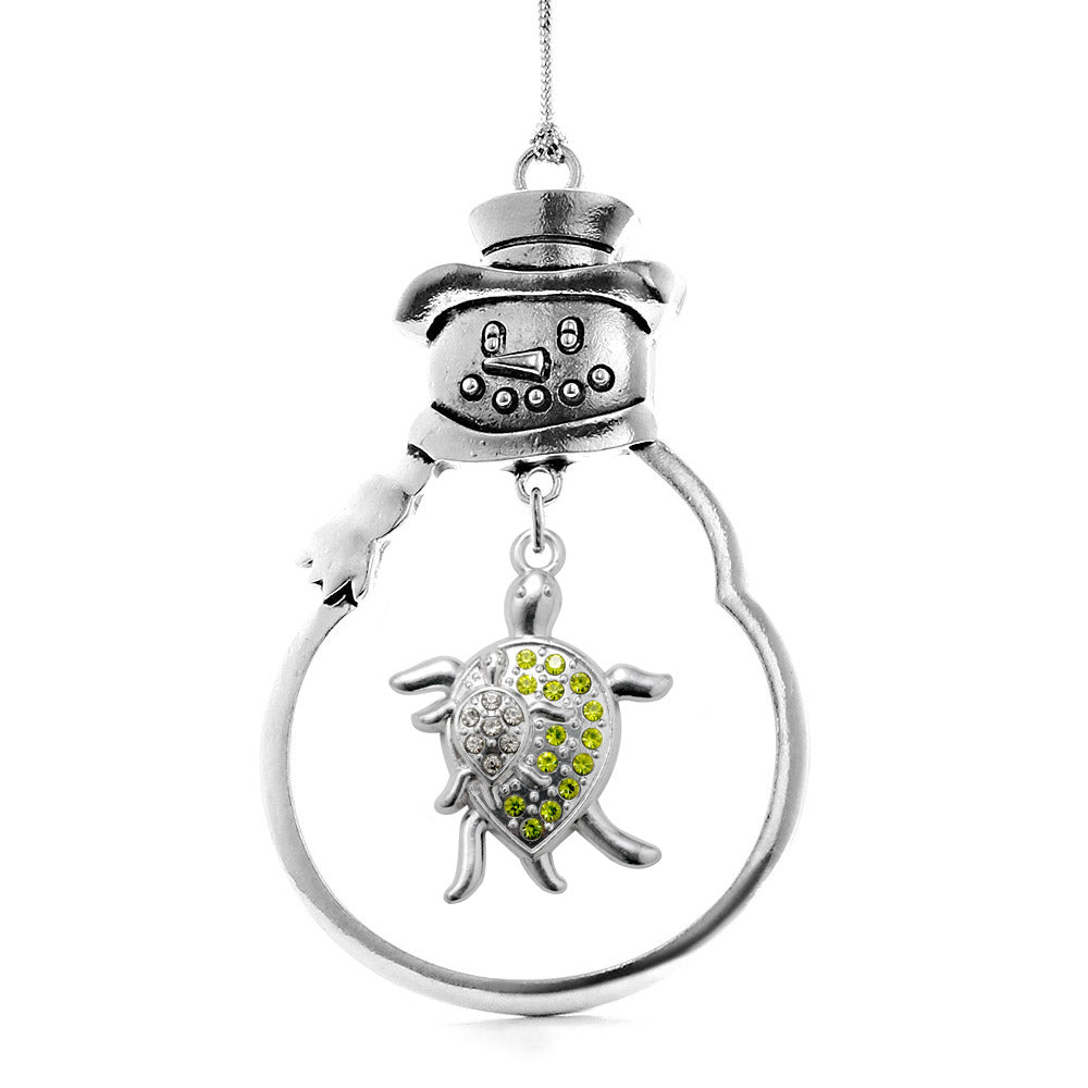 1.0 Carat Sea Turtle Family Charm Christmas / Holiday Ornament
