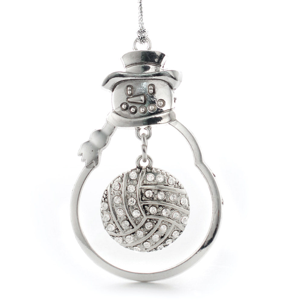 3.2 Carat Pave Volleyball Charm Christmas / Holiday Ornament