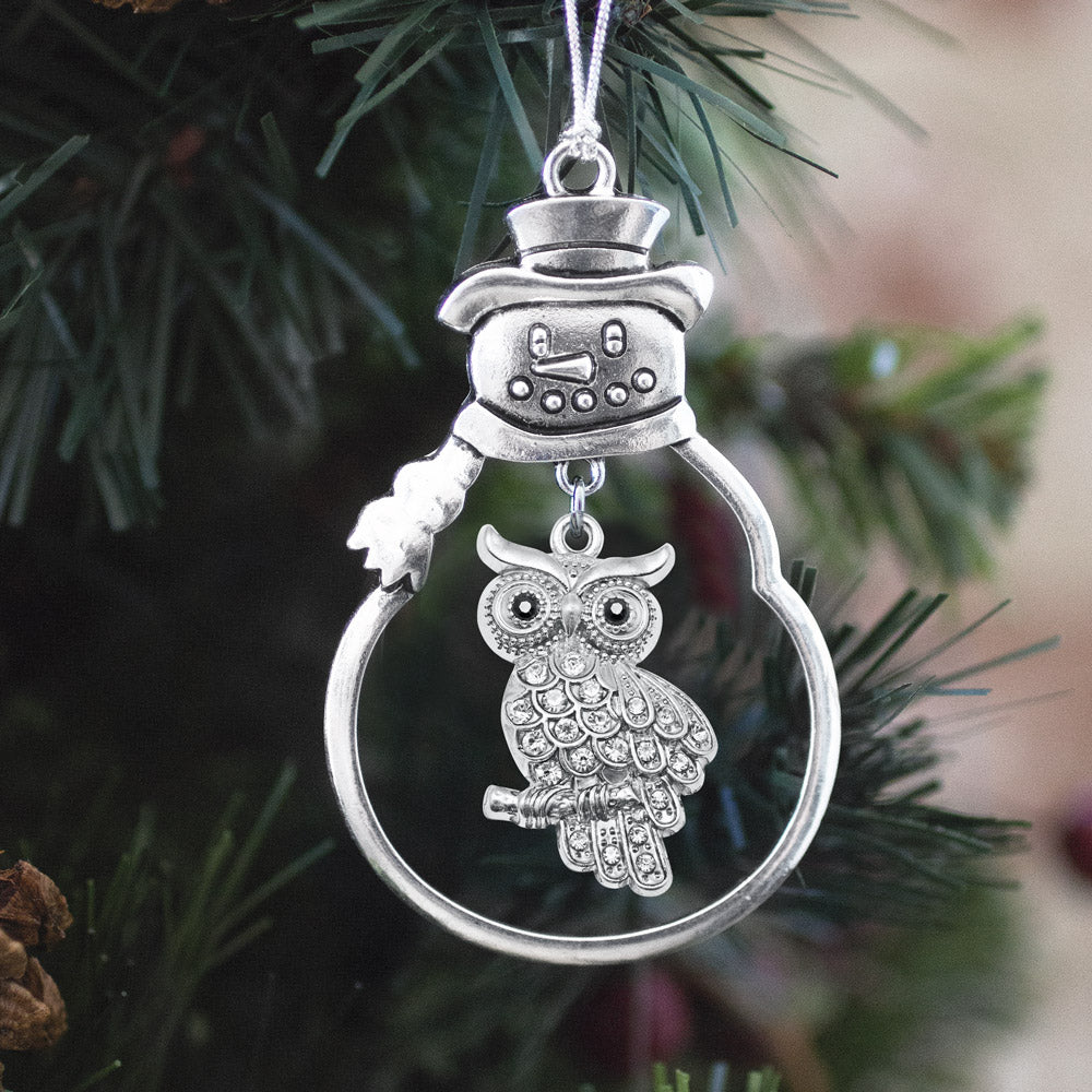 Pave Owl Charm Christmas / Holiday Ornament