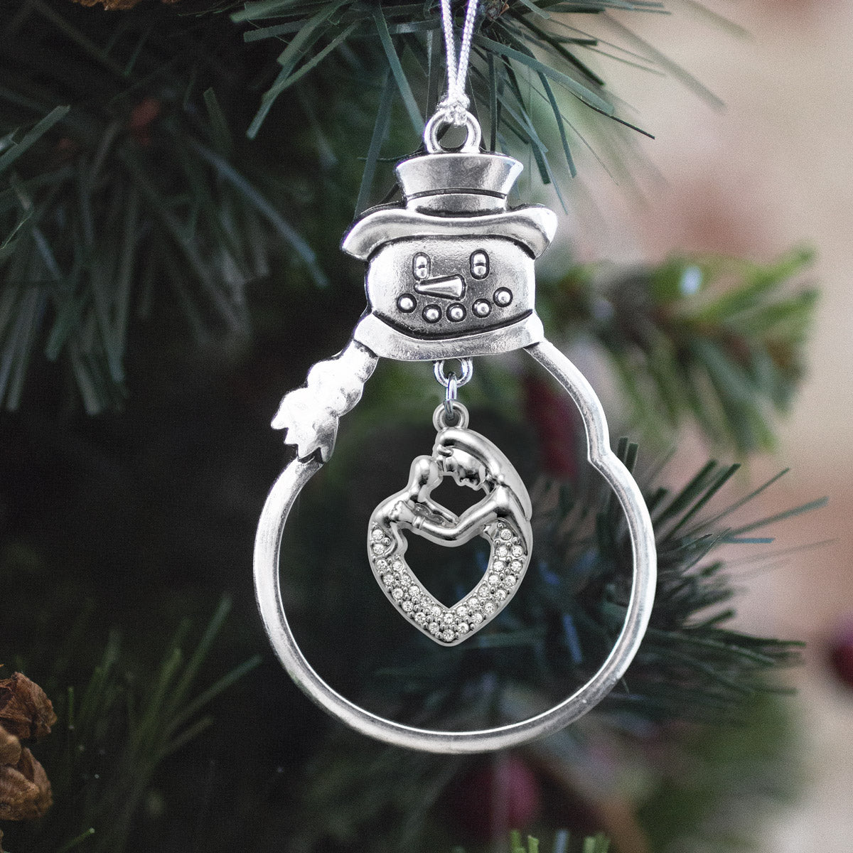 1.0 Carat Mother and Child Charm Christmas / Holiday Ornament