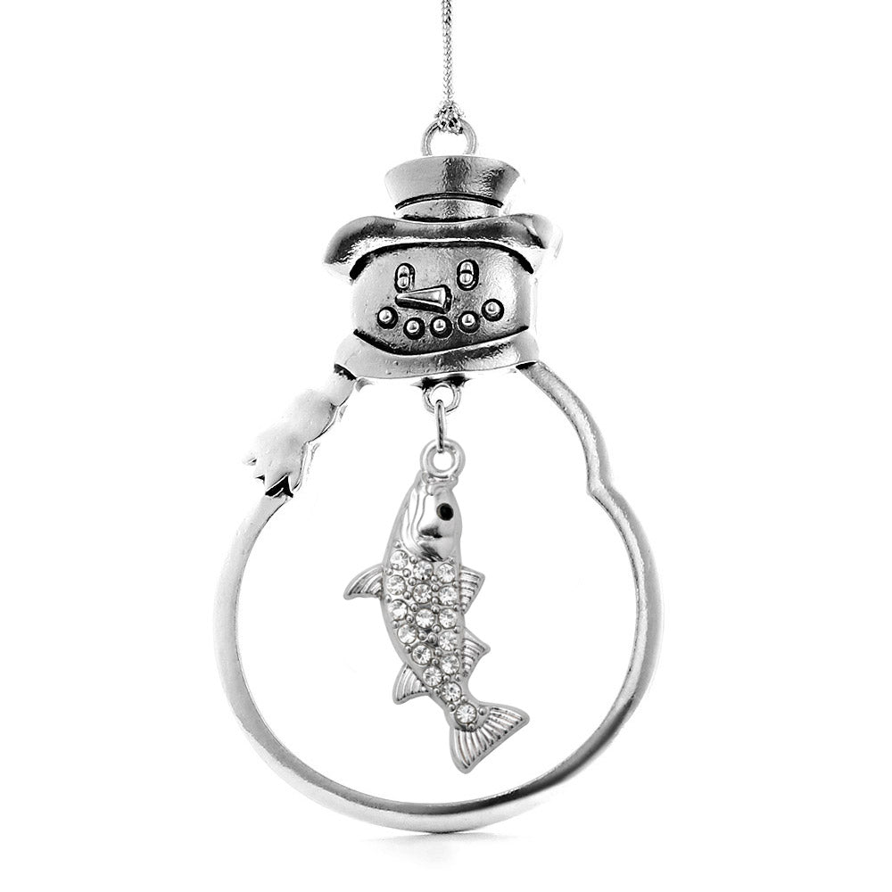 1.5 Carat Lucky Fish Charm Christmas / Holiday Ornament