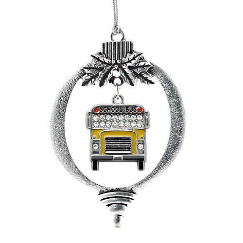 Half Carat School Bus Charm Christmas / Holiday Ornament
