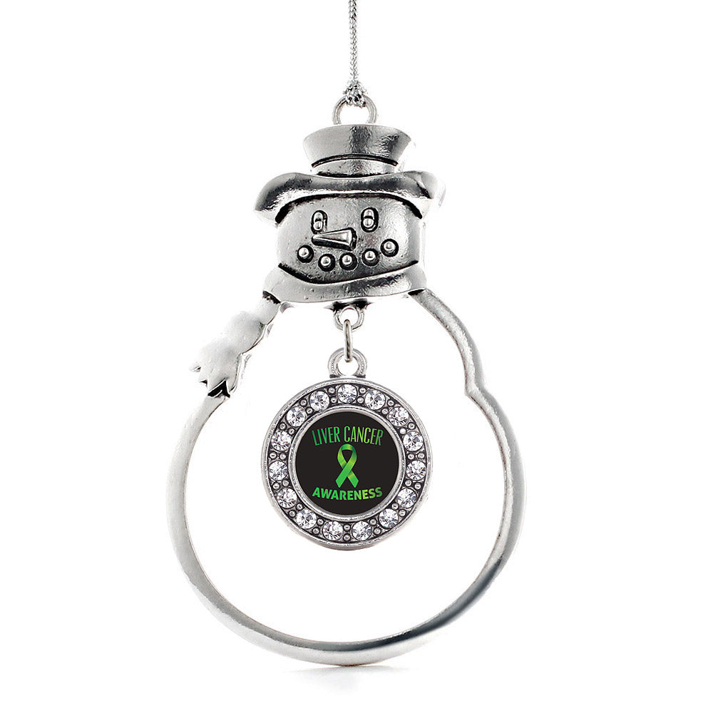 Liver Cancer Awareness Circle Charm Christmas / Holiday Ornament