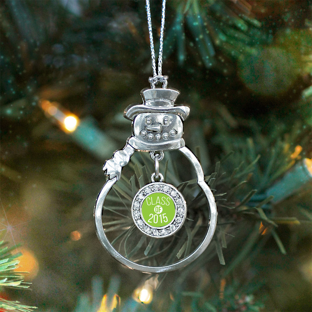 Class of 2015 Lime Green Circle Charm Christmas / Holiday Ornament