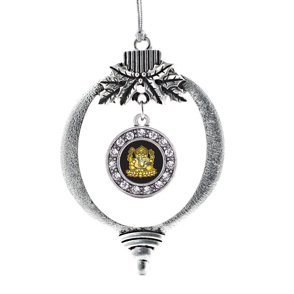 Ganesh Circle Charm Christmas / Holiday Ornament