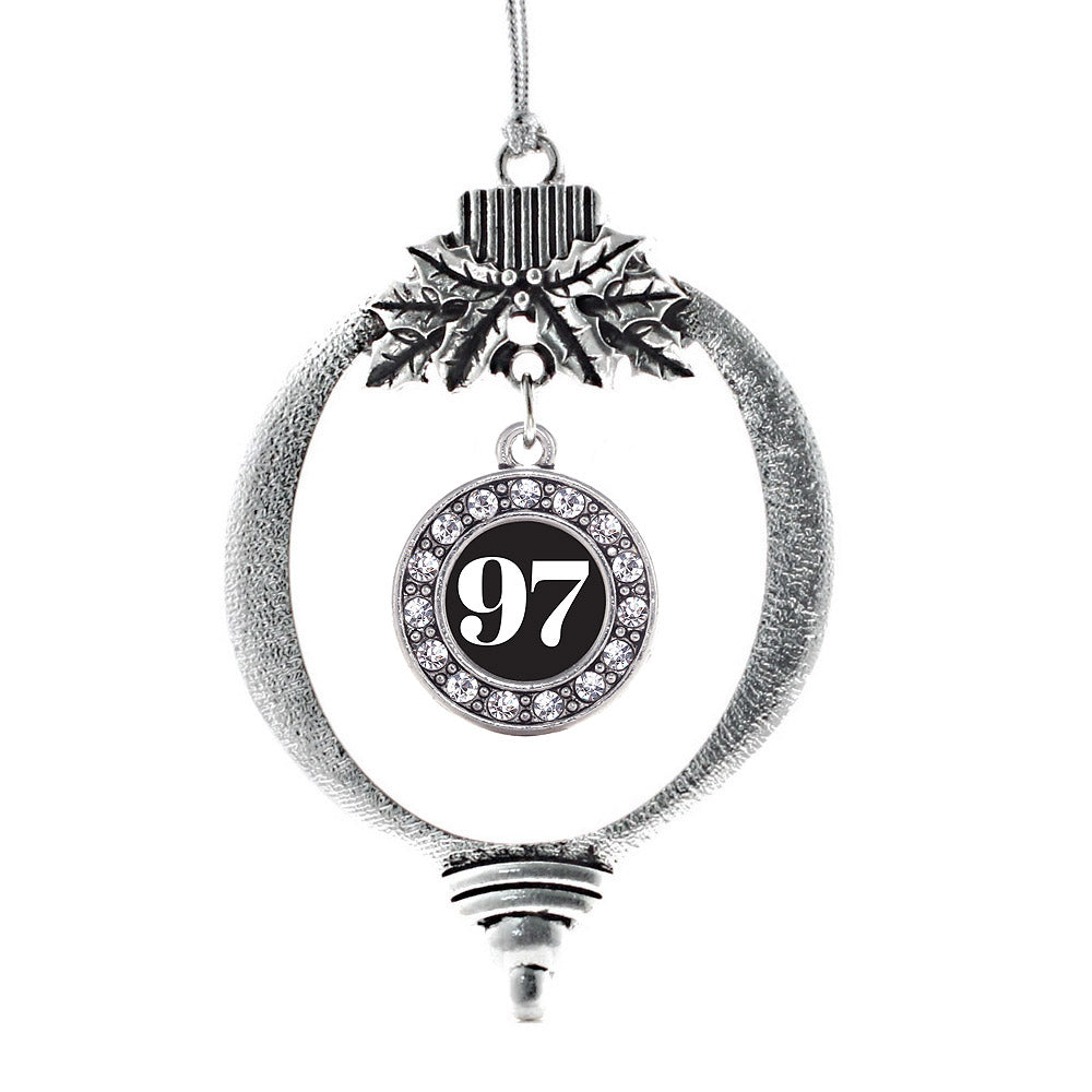 Number 97 Circle Charm Christmas / Holiday Ornament