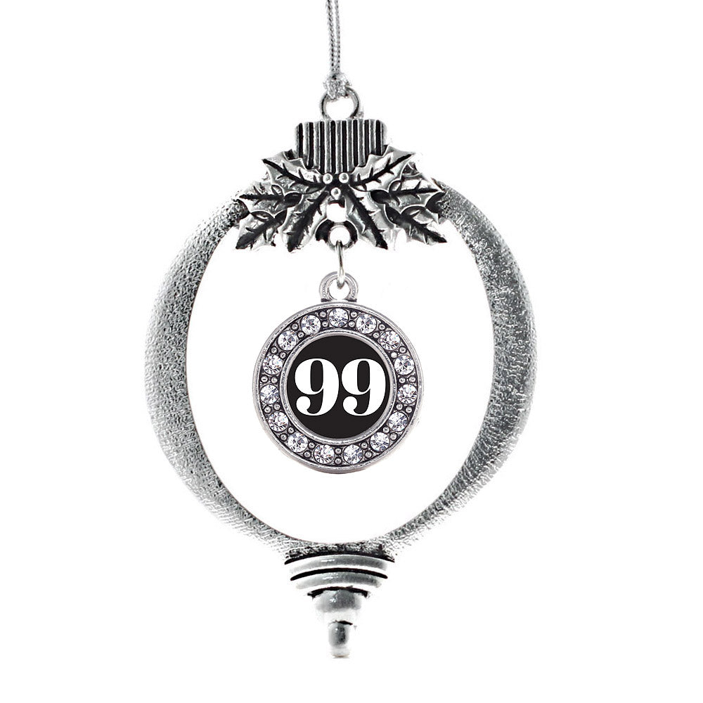 Number 99 Circle Charm Christmas / Holiday Ornament
