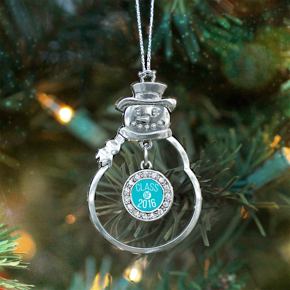 Teal Class of 2016 Circle Charm Christmas / Holiday Ornament