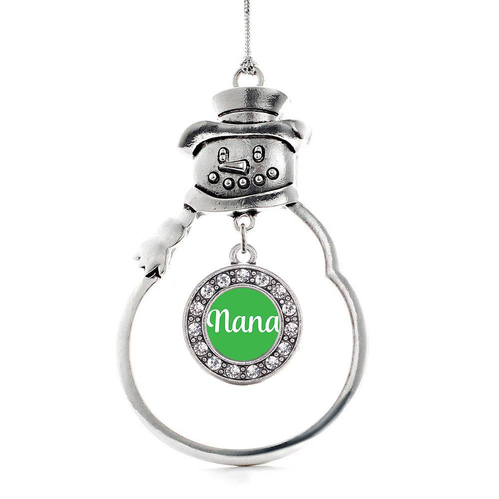 Nana Green Circle Charm Christmas / Holiday Ornament