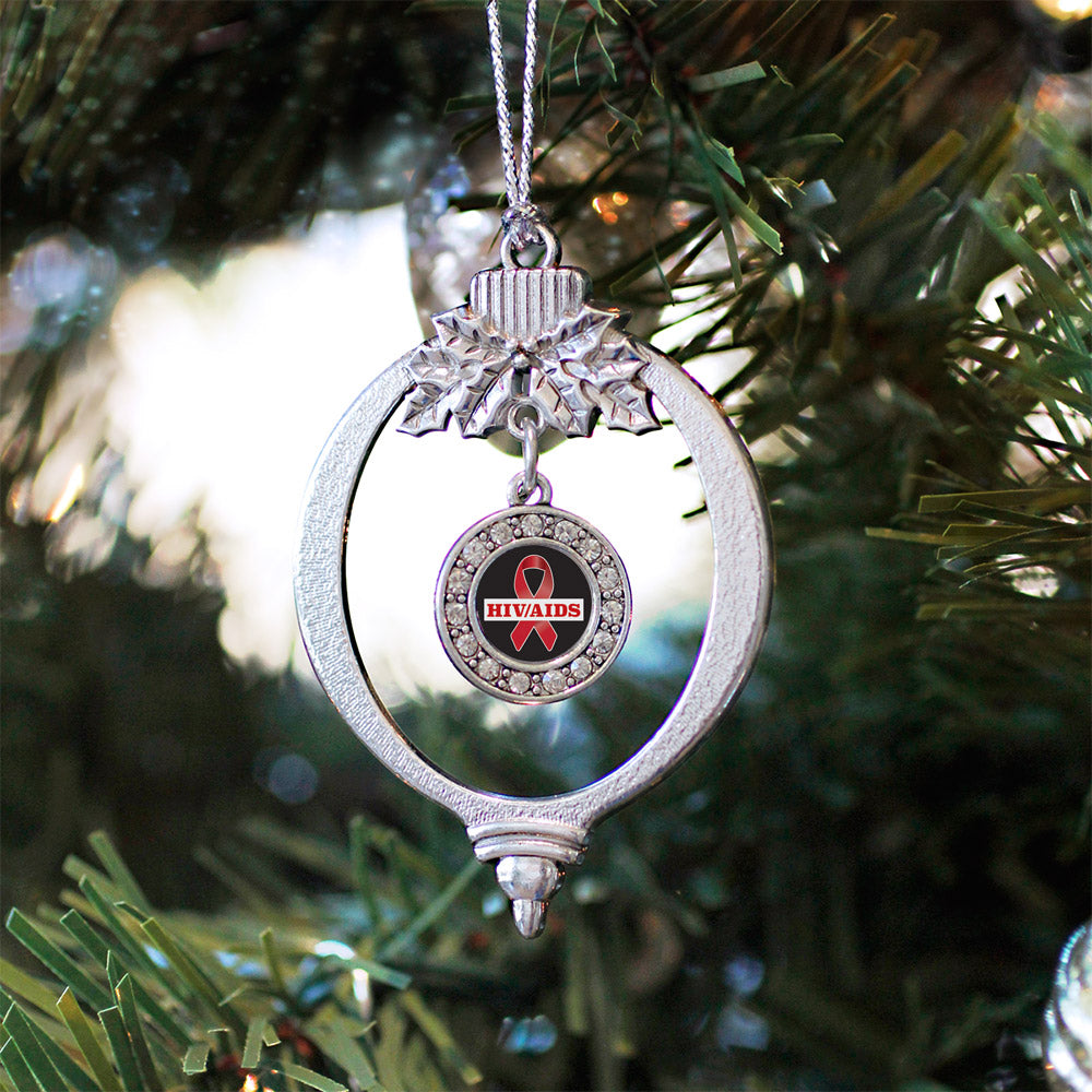 HIV/AIDS Awareness Circle Charm Christmas / Holiday Ornament